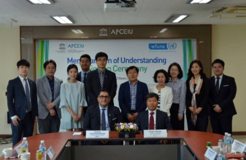 WFUNA Signs Strategic Partnership with APCEIU