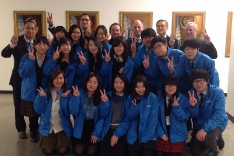 WFUNA welcomed sixteen high school students from the Republic of Korea this past week for another Training at the UN
