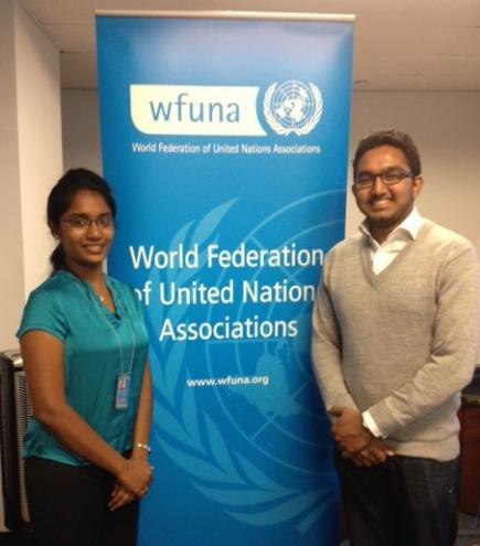 UN Youth Delegates Chapa Perera and Adhil Bakeer Markar
