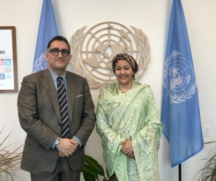 WFUNA meets with UN Deputy Secretary-General Amina Mohammed