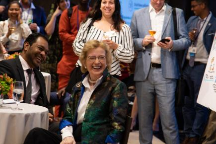 H.E. Ms. Mary Robinson and H.E. Mr. Fidelis Magalhaes