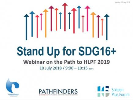 Stand Up for SDG 16+: Webinar Recap on the Path to HLPF 2019