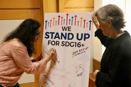 Stand Up for SDG 16+: Accelerating Progress for Peaceful, Just and Inclusive Societies
