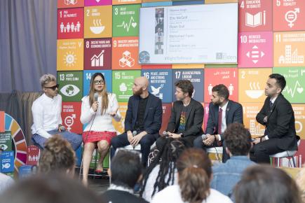 Young activists at the SDG Media Zone