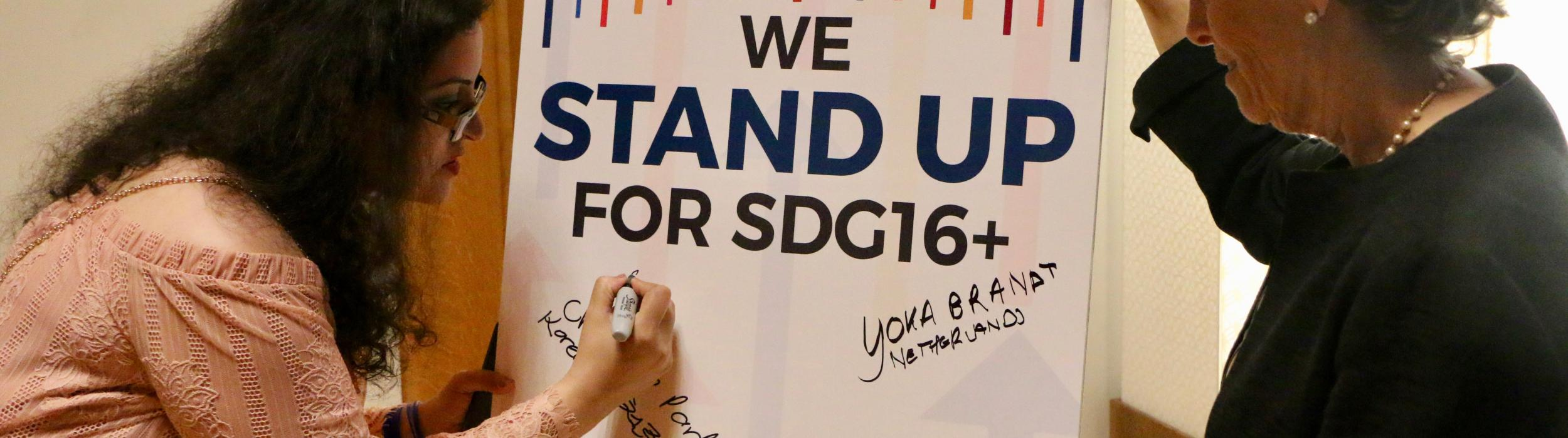 Stand Up for SDG 16+